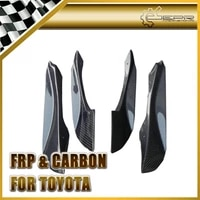 car styling for toyota ft86 pjdm style real carbon fiber front bumper inner canards 4pcs