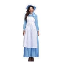Costume Renaissance robe Style pastorale nationale adulte femmes Halloween rétro femme de chambre Cosplay serveur Cosplay habiller tenue