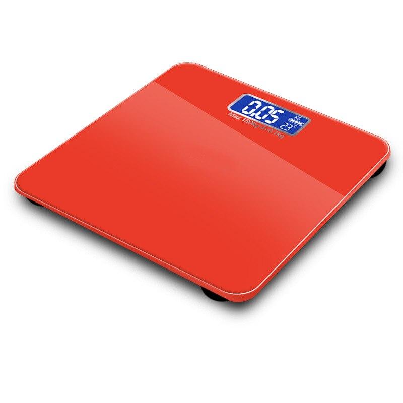 Электронные весы с ЖК-дисплеем 180 кг, весы для ванной комнаты, весы для индивидуального взвешивания, 4 цвета, умный баланс