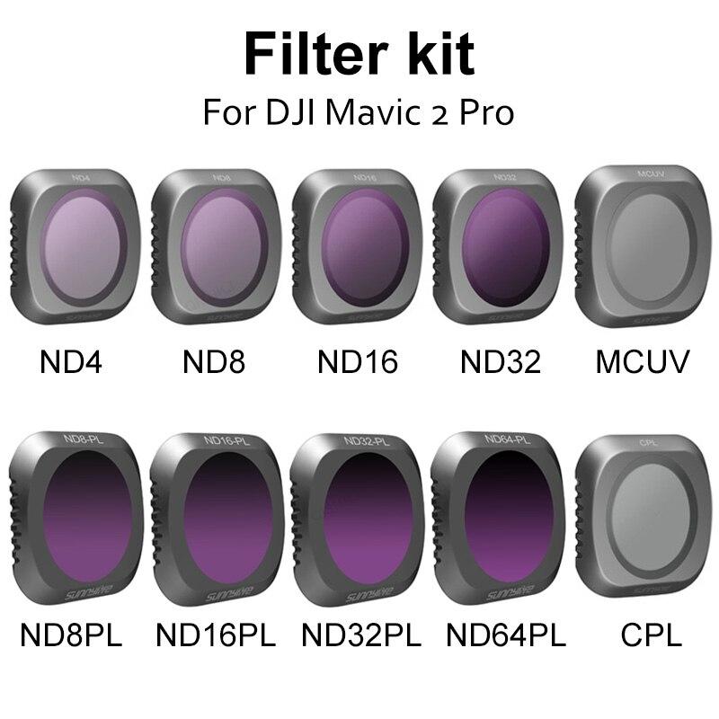 DJI-MAVIC 2 PRO MCUV CPL ND ND4 ND8 ND16 ND32 مجموعة مرشح عدسة الكاميرا ، ملحقات كاميرا Mavic 2 Drone Gimbal