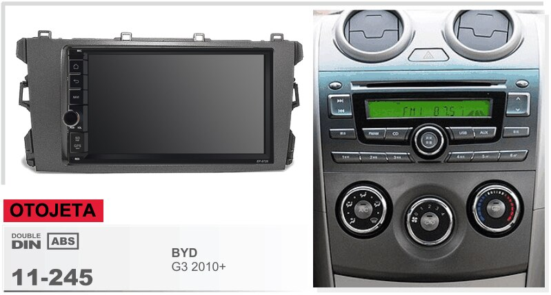 Navirider android 8.1 carro multimídia estéreo rádio áudio player gravador de fita (quadro + série rádio) apto para byd g3 2010 + gps