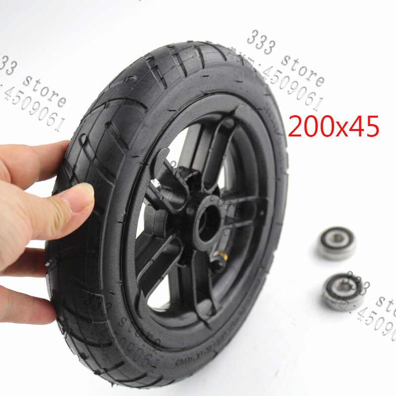 "Rueda y cubo inflables 200x45 y neumático interno para e-twow S2 Scooter M8 M10 rueda neumática 8 ""Rueda de aire para silla de ruedas Scooter"