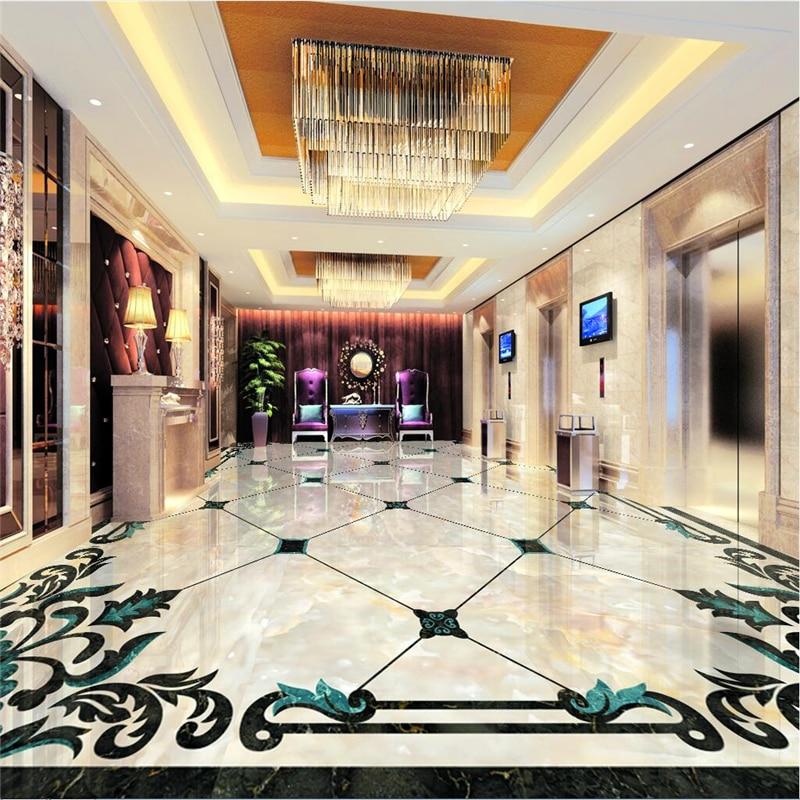 Beibehang personalizado foto piso pintura murais para colar europeu piso em parquet de mármore 3d parágrafo sala atacado