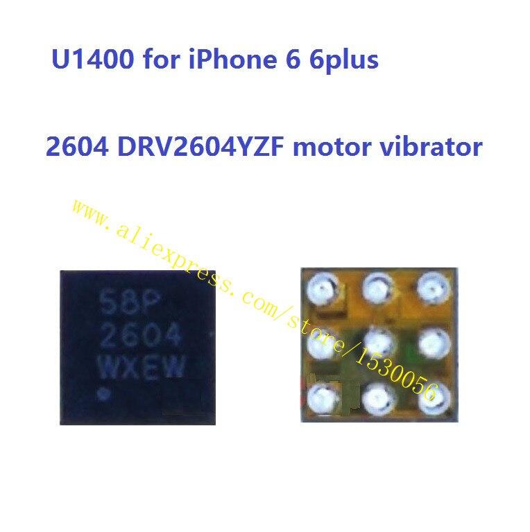 U1400 para iPhone 6 6 plus 2604 DRV2604YZF motor vibrador vib conductor ic chip 9 pines lote de 5 piezas