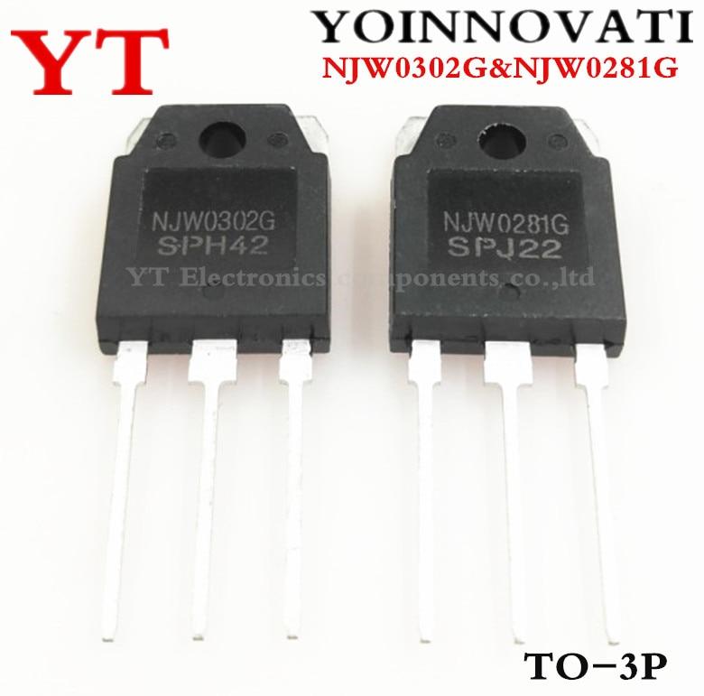 10 шт. = 5 пар (5 шт. NJW0281G + 5 шт. NJW0302G ) NJW0281 NJW0302 TO-3P IC лучшее качество.