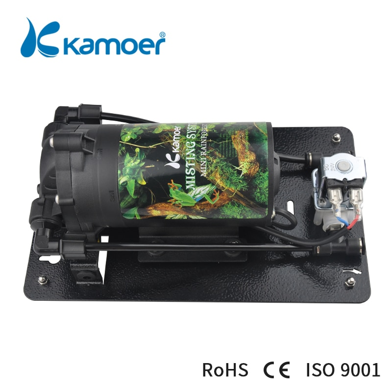 Kamoer Mini Rain Forest Misting System ( For Reptile/Rainforest Tank, Low Noise, High Pressure, Spraying Pump, Water Pump) kamoer kvp04 12v 24v mini diaphragm vaccum pump electric air pump with low flow rate 1 1l min and low noise