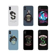 For Xiaomi Mi4 Mi5 Mi5S Mi6 Mi A1 A2 5X 6X 8 9 Lite SE Pro Mi Max Mix 2 3 2S TPU Transparent Cover Riverdale South Side Serpents