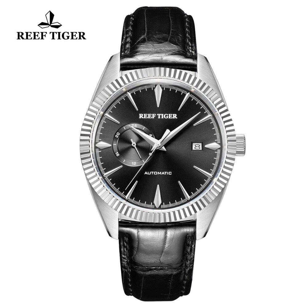 Reef Tiger/RT relojes de lujo para hombre, reloj de negocios automático de acero impermeable 50M reloj hombre para regalo 2019 RGA1616