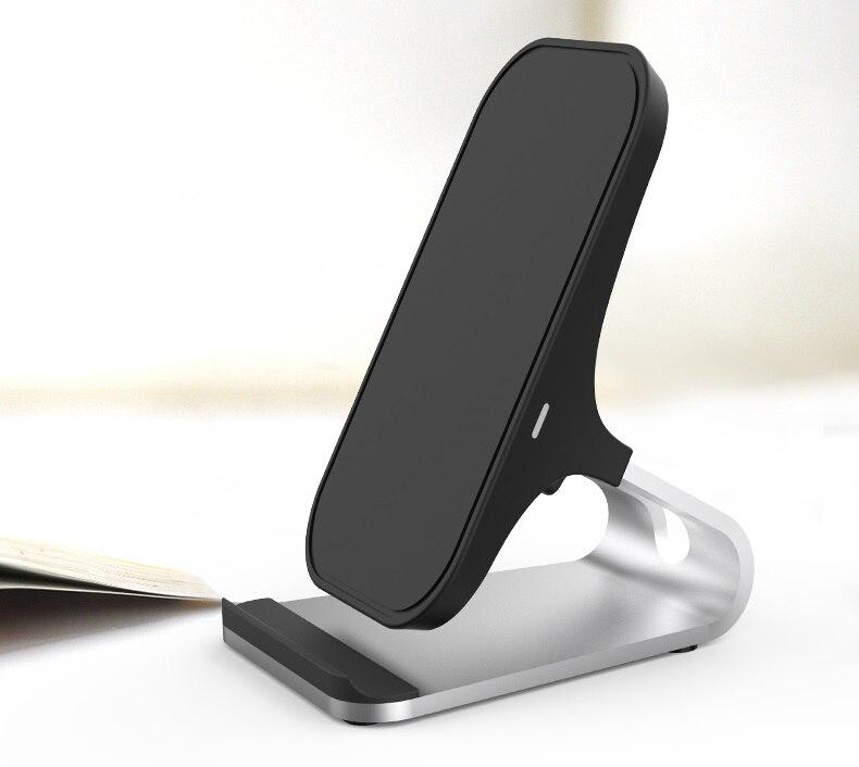 Lantro JS Беспроводное зарядное устройство Qi быстрое зарядное устройство для телефона настольная подставка с одним метровым типом C к USB кабелю без адаптера переменного тока