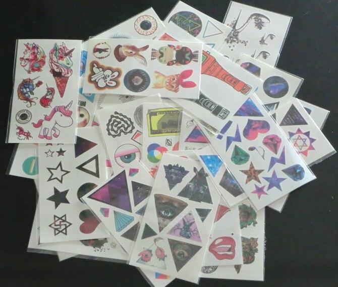 100Pcs Waterproof Temporary Tattoo Body Art Sticker Paper 7.3*13.2cm