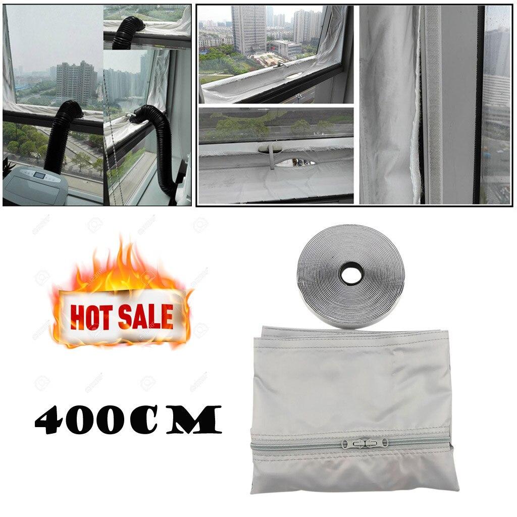 Sellado de ventana de Airlock para acondicionadores de aire móviles y secadores de aire de escape blanco Universal 4m tablero suave para el aire acondicionado móvil
