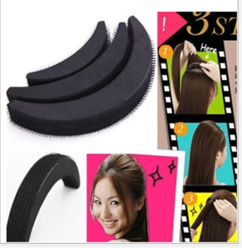 3pcs/lot Mix Size Women Girls  Sponge Hair Maker Styling Twist Magic Bun Hair Base Bump Styling Insert Tool Volume Headwear