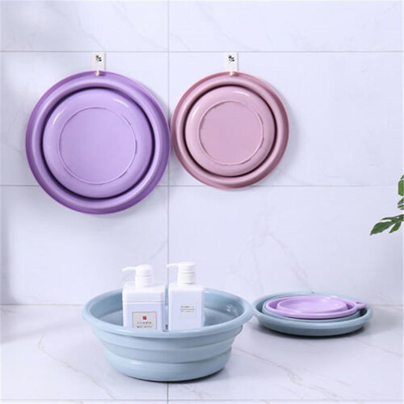 2019 nuevo de cocina de silicona portátil plegable de Camping lavabo plegable cubo/plato de bañera