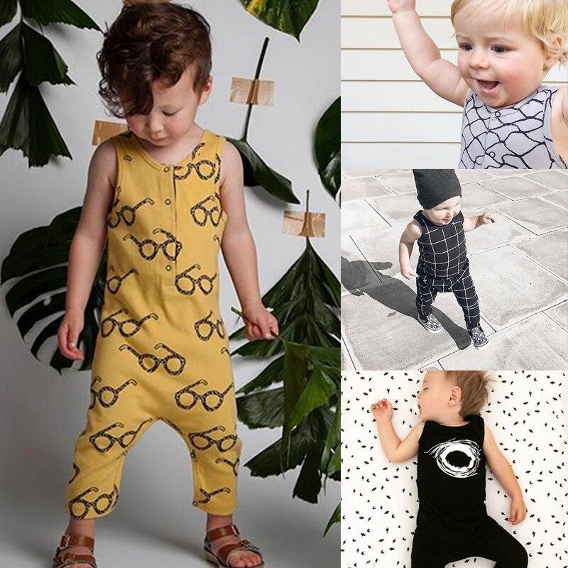 Peleles RP-167 para bebés de algodón, ropa estampada para niños y niñas, ropa de verano sin mangas, monos Bobo Choose