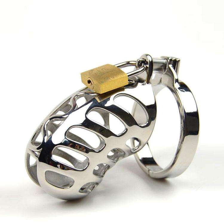 سوداندي جهاز العفة الصغير المعدني حزام العفة للذكور من الفولاذ المقاوم للصدأ قفص القضيب الدائري قفل عبودية منتجات جنسية للرجال