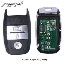 jingyuqin Car Smart Key à distance pour KIA ajustement K4 KX3 Sportage Sorento Rio après 2016 Année ID47 Chip 433Mhz Key Control