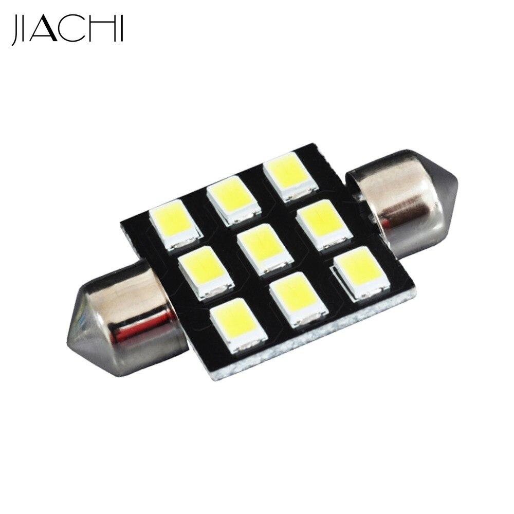 JIACHI 10pcs/lot Car C5W Festoon 36mm LED 5730 SMD lamp Auto Interior Map Dome Reading Light Lamp 12V Xenon White for Toyota BMW