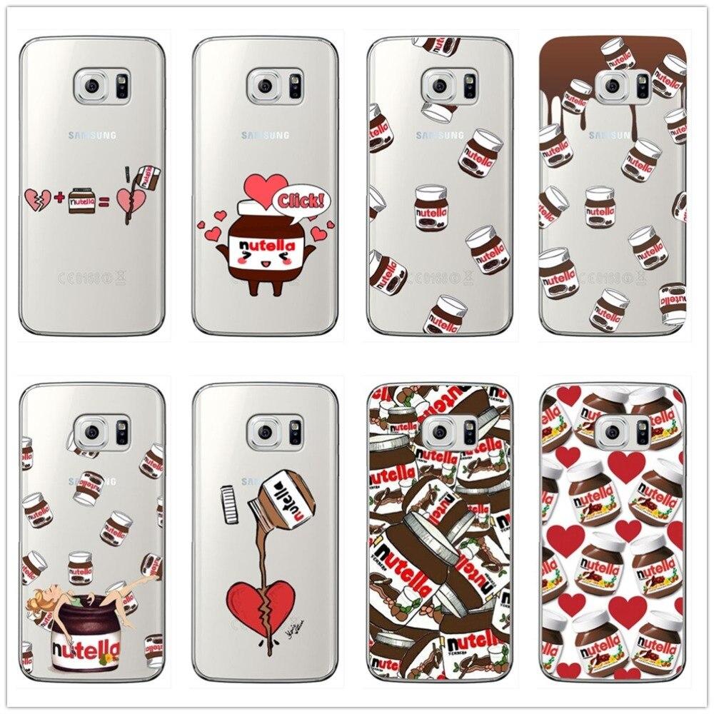 I Love Kawaii nutella Fashion Phone Case For Samsung Galaxy A3 2016 J3 A5 A7 J5 2015 J7 2017 EU Soft Silicone tpu Case Cover
