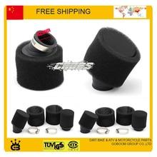 90cc 110cc 125cc 250cc loncin lifan zongshen kayo Foam air filter  42mm 45mm 48mm size pit bike accessories free shipping
