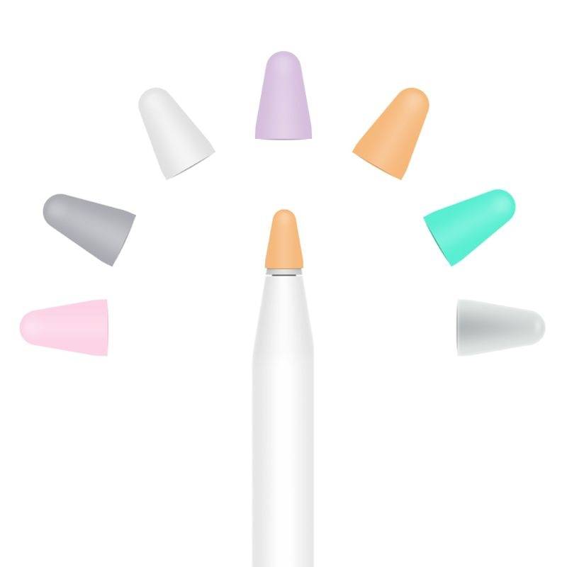 5 шт. силиконовый Сменный Чехол с наконечником для Apple Pencil 1st 2nd стилус ручка для тачскрина