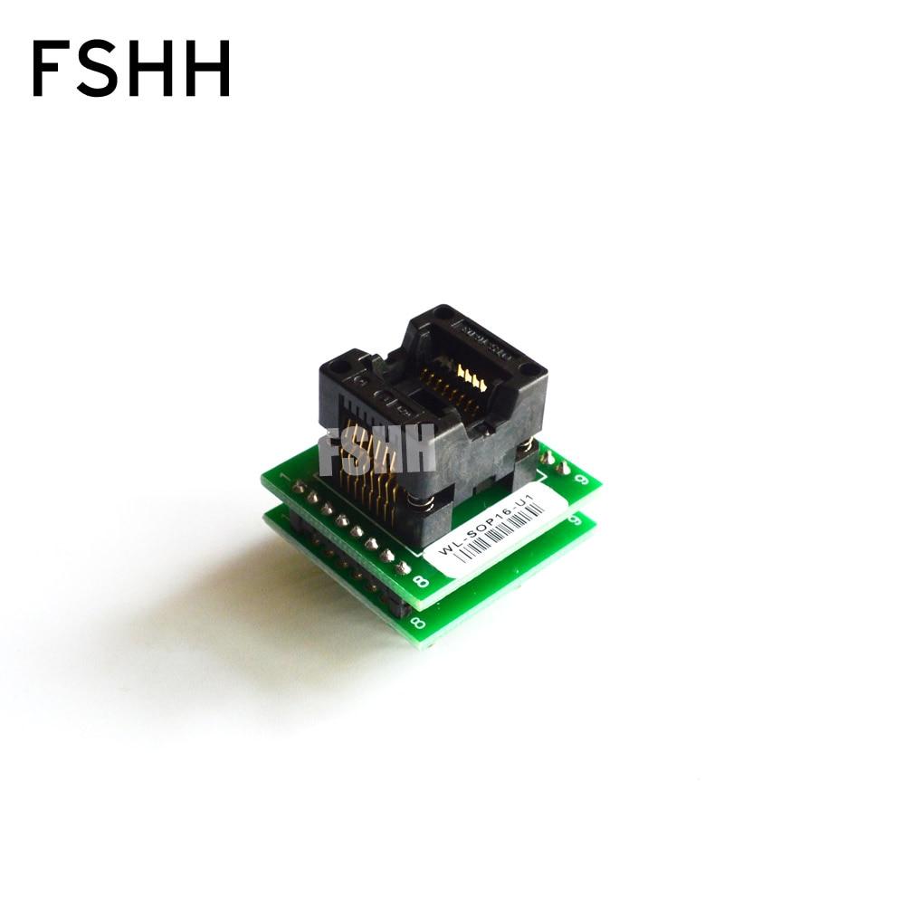 WL-SOP16-U1 Adapter for Wellon Programmer Adapter 150mil SOP16 to DIP16 Adapter IC Test Socket IC Socket fbga 48pin programmer adapter bga48 to dip48 adapter ic socket ic test socket