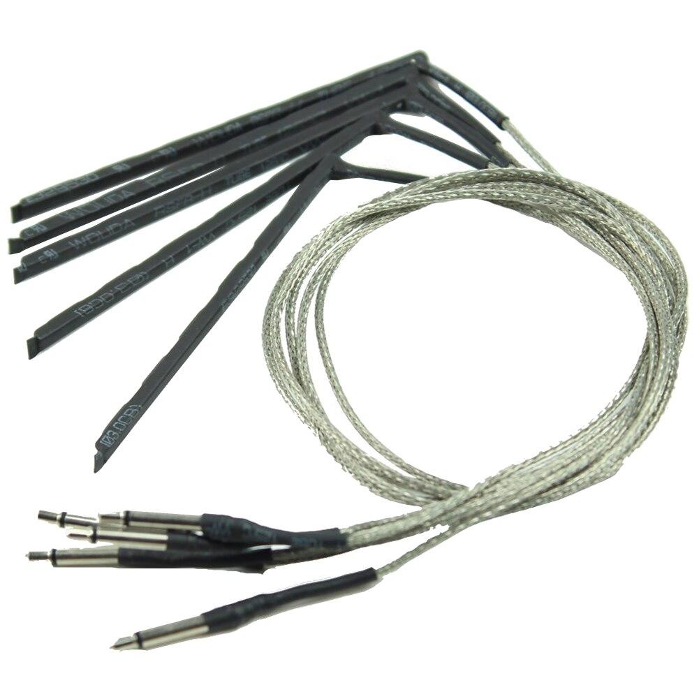 XFDZ 5 шт. гибкий преобразователь акустической гитары чувствительность пьезо-мост Пикап кабель