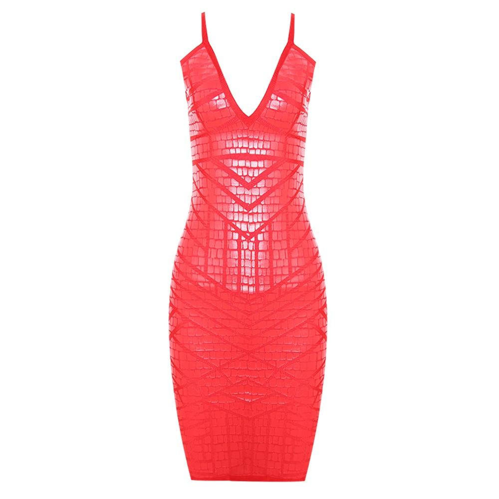 DEIVE TEGER rojo Sexy de espalda descubierta Vestido de las mujeres Sexy correa de espagueti Bodycon de fiesta de noche para discoteca lápiz Club Mini Vestido HL1761