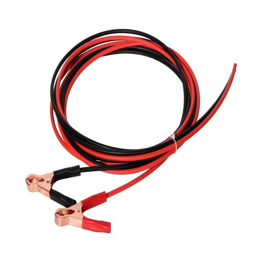 Cable Solar de 2*3M de Boguang (cable negro de 3m + Cable rojo de 3m) con pinzas de cocodrilo para Módulo de celda de panel solar de batería recargable