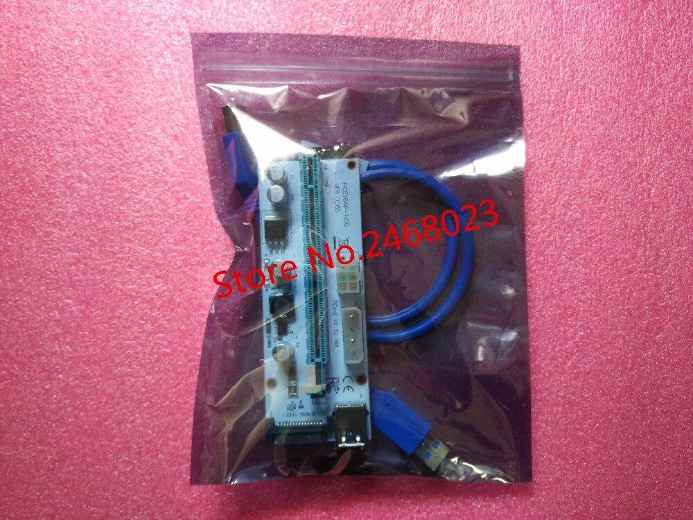 10 قطعة VER008S موليكس 4Pin SATA 6PIN PCIE PCI-E PCI اكسبريس الناهض بطاقة 008s محول 1X إلى 16X USB3.0 موسع التعدين مينر