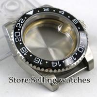 40mm parnis Sapphire Glass Date Rotaating Ceramic Bezel Steel Watch Case fit ETA 2836 mingzhu 2813 miyota 82 series movement