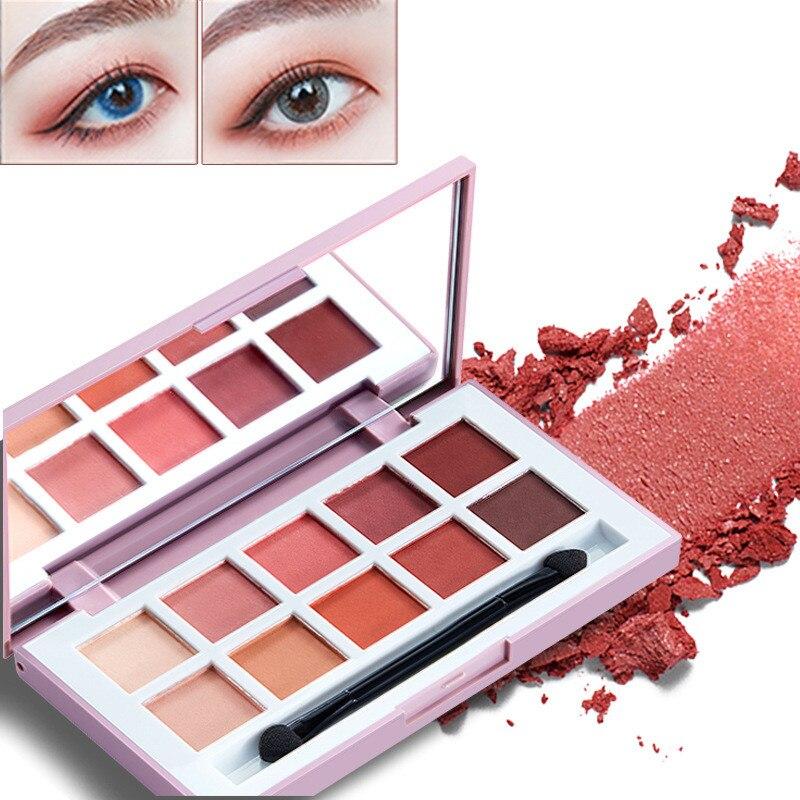 Paleta de sombra de ojos Glitte mate, paleta de sombra de ojos de larga duración, fácil de usar, sombra de ojos brillante, cepillos cosmèticos de maquillaje