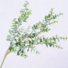 Branche darbre à Eucalyptus artificielle plastique   Pour décoration de mariage noël arrangement floral petites feuilles plante faux feuillage