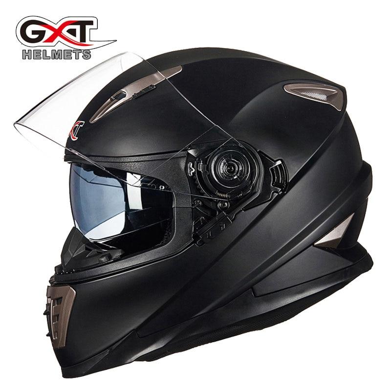 Inverno branco dinossauros gxt lente dupla rosto cheio moto rcycle capacete, homem moto moto rbike capacete com lente interna pode ser escondido