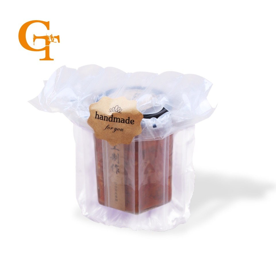 Protector y amortiguación dia 13*20cm 900g lata de leche en polvo columna de burbujas de aire de plástico bolsa de embalaje antipresión rota fácil
