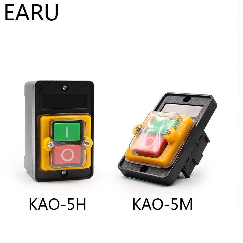 Interruptor de botón a prueba de agua interruptor de encendido/apagado KAO-5/BSP210F-1B 10A 380V para máquina de corte interruptor de taladro de banco
