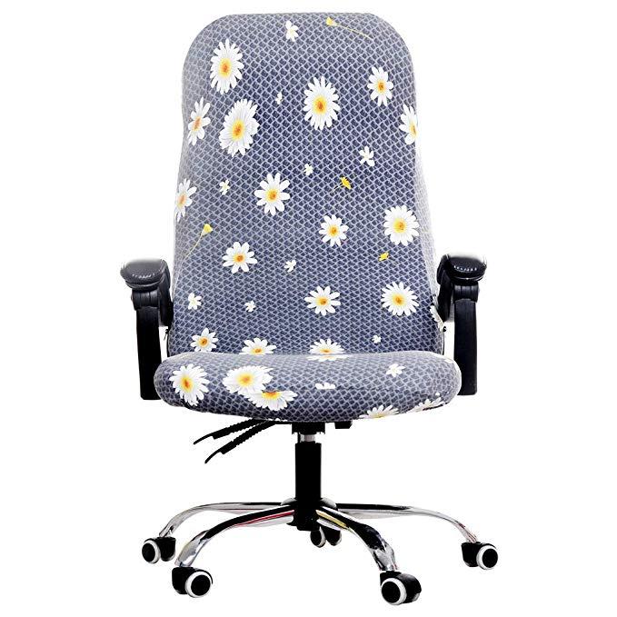 Rotación de oficina funda para silla de ordenador cubiertas de elastano para sillas Lycra Presidente elástico para giratoria silla sillón trabajo asiento nuevo