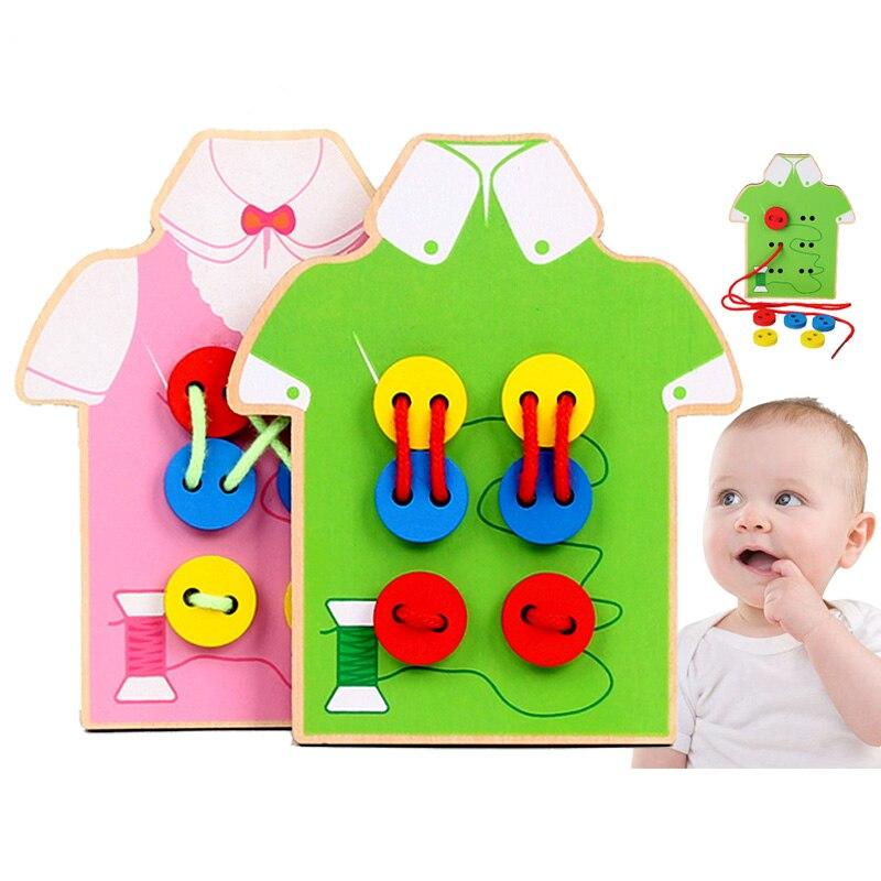 Игрушки Монтессори Обучающие деревянные игрушки для детей бусины раннего