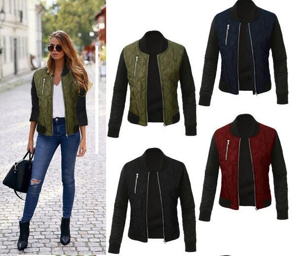 2019 Spring Autumn Winter Fashion jacket women Long sleeve patchwork casual jacket Plus size 3XL