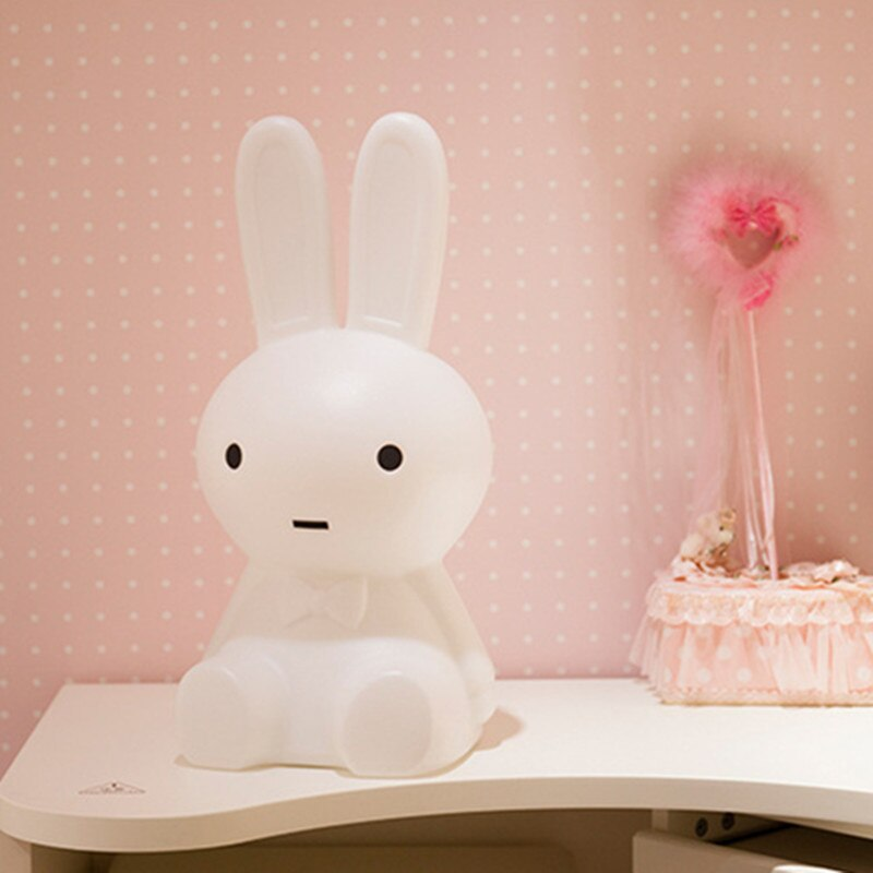 Cartoon Rabbit Led Night Light 50cm dimmable plug atmosphere Light for Children Baby Room Decorating