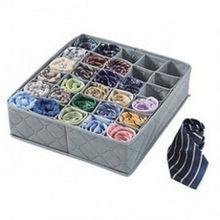 30 celdas de bambú ropa interior corbatas calcetines cajón armario organizador caja de almacenamiento Potable Gary ropa armario cajas de almacenamiento