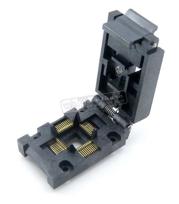 QFP44 TQFP44 LQFP44 PQFP44 FPQ-44-0.8-16A QFP Enplas Programmierer IC Sockel Adapter