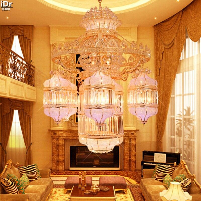 Традиционные Хрустальные Налобные фонари для лобби отеля, пентхауса, пола, гостиной, фары, крупные проекты, люстры, Lmy-004