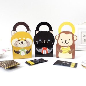 20pcs Cartoon Animal Bags with Baby Shower Wedding Favor Kids Birthday Party Box