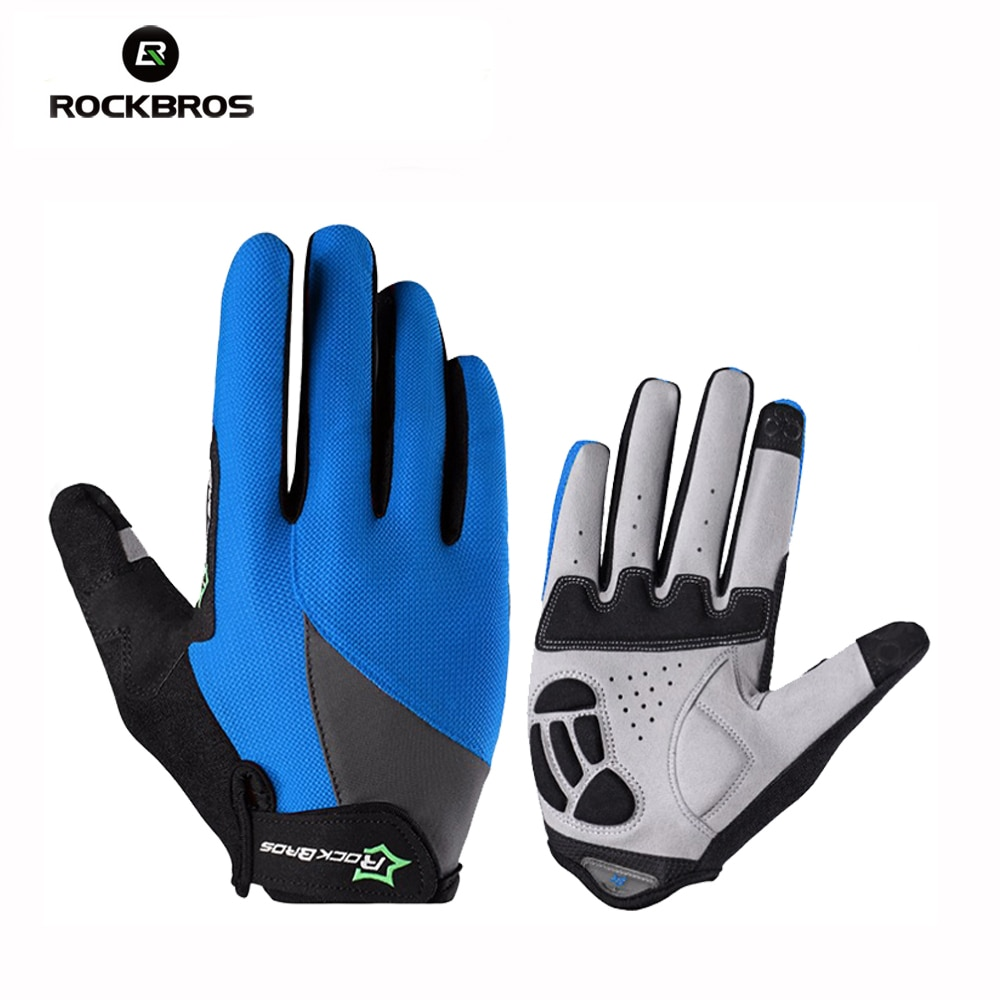 new women lace sunscreen gloves autumn spring lady stretch touch screen anti uv slip resistant driving glove breathable guantes Rockbros Spring Autumn Full Finger Gloves Touch Screen Breathable Gloves For Smartphone Mtb Guantes Sport Cycling Gloves