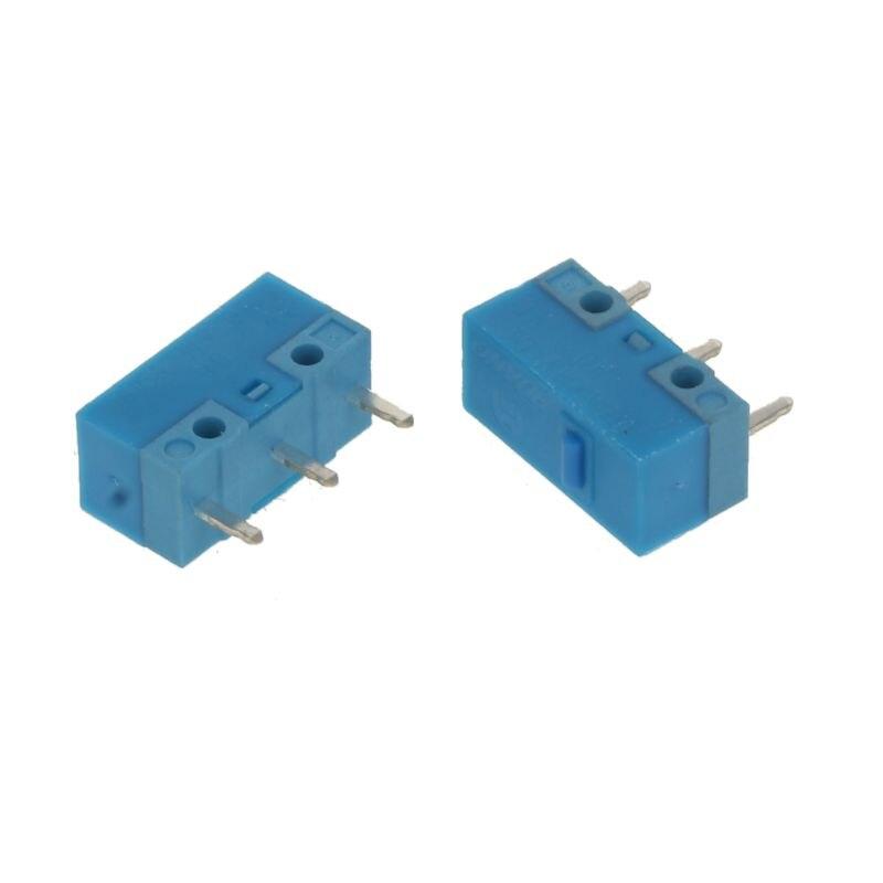 2 piezas Original HUANO azul punto azul Shell 0.74N ratón Micro interruptor de aleación de oro contactos 50 millones de vida útil