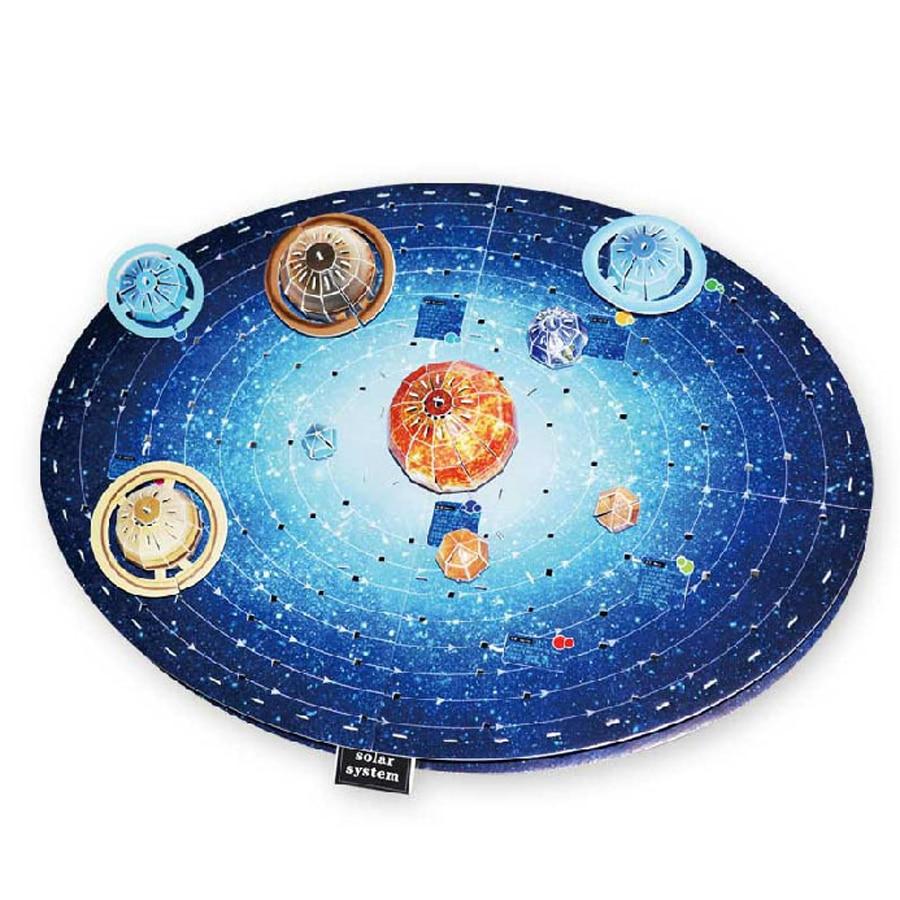DIY rompecabezas 3D juguetes planetas Sistema Solar papel modelo para niños astronómicos aprendizaje rompecabezas educativos temprano para niños