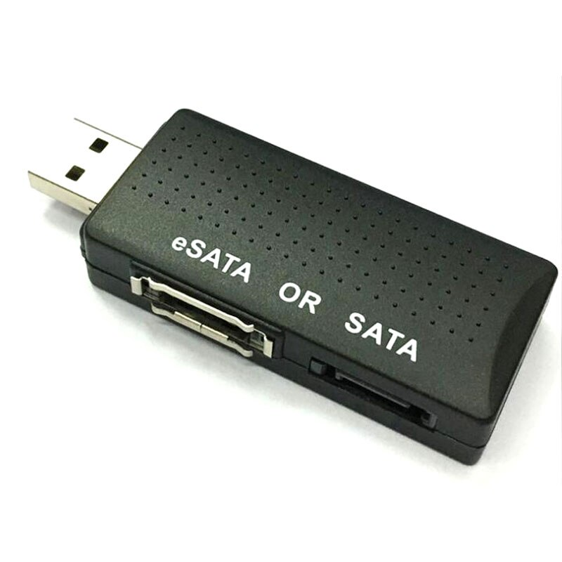 Внешний USB 2,0 для SATA eSATA 2 порта кабель конвертер адаптер конвертер для ПК ноутбука