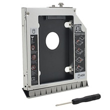Optibay 2nd HDD Caddy 12.7mm SATA3.0 pour HP EliteBook 8470P 8460W 8460P 8470W pour 2.5 'SSD DVD HDD boîtier boîtier adaptateur cd-rom