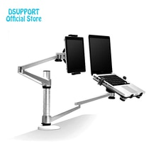 Dsupport OA-9X Faul Tablet Laptop Stehen Verstellbare Höhe Drehbare Halter für Laptop innerhalb 10-16 zoll und Tablet PC 7-13 zoll
