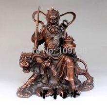 001432 chinesischen fahrt tiger Gott des reichtums bronze buddha statue